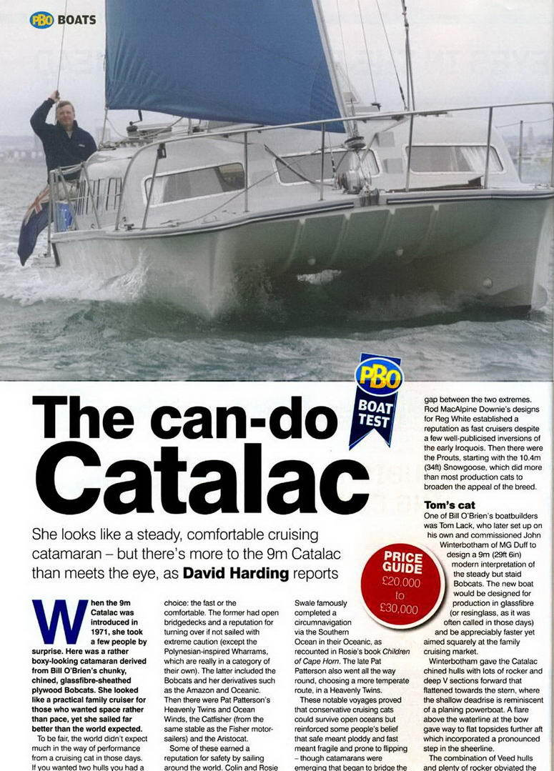 Catalac 9M Catamaran performance article