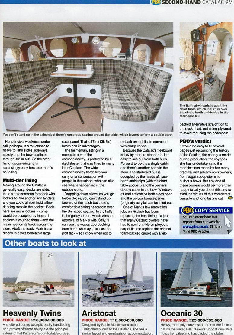 Catalac 9M Catamaran PBO article4