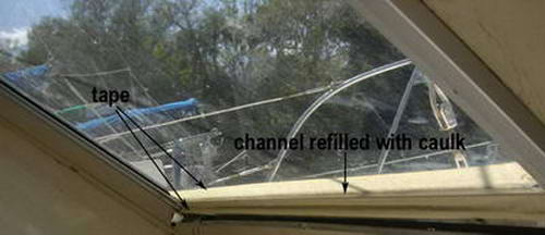 Catalac Catamaran window repair